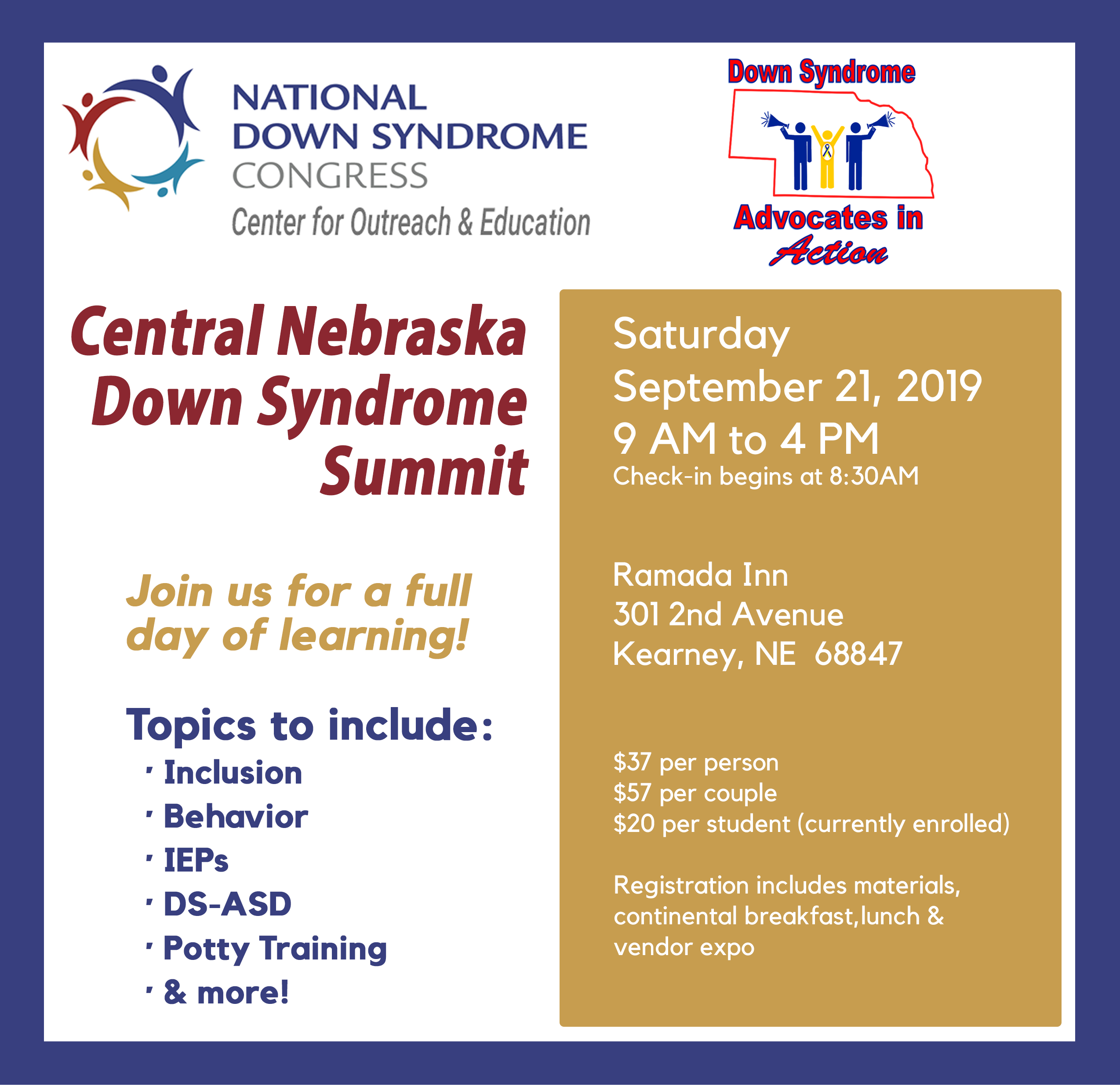 Down Syndrome Summit | National Down Syndrome Congress